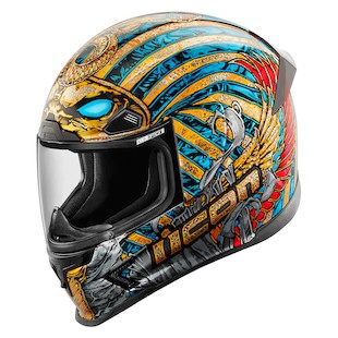 Icon Airframe Pro Pharaoh Helmet (Color: Gold/Blue/Red / Size: XS) 1058614