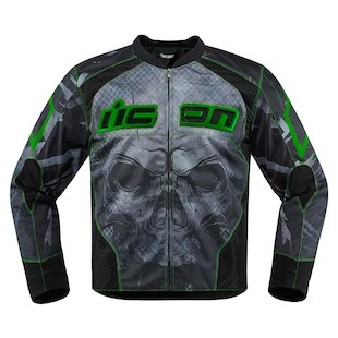 Icon Overlord Reaver Jacket (Color: Green / Size: LG) 1058829