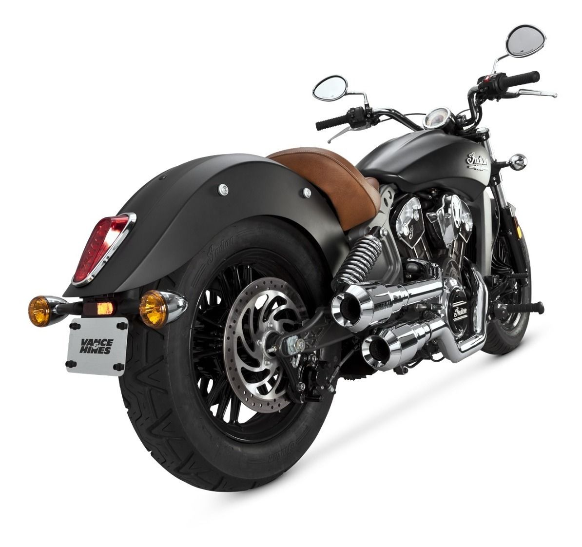 Closeout Vance Hines Grenades Hi Output Exhaust For Indian Scout 2015 2018