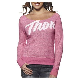 Thor Script Scoop Neck Women's Shirt (Color: Pink / Size: XL) 1061465