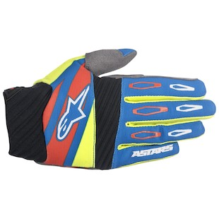 Alpinestars Techstar Factory Gloves (Color: Black/Fluo Yellow/Red / Size: MD) 1062845