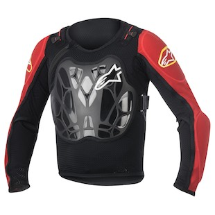 Alpinestars Youth Bionic Jacket (Color: Black/Red / Size: One Size Fits Most) 1062733