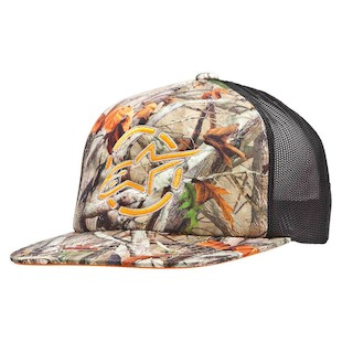 Alpinestars Woodland Trucker Hat (Color: Camo Green / Size: One Size Fits Most) 1062445