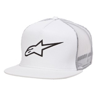 Alpinestars Corp Trucker Hat (Color: White / Size: One Size Fits Most) 1062460