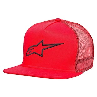 Alpinestars Corp Trucker Hat (Color: Red / Size: One Size Fits Most) 1062459