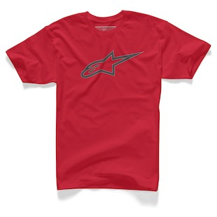 Alpinestars Carbon Ageless T-Shirt (Color: Red / Size: SM) 1062361