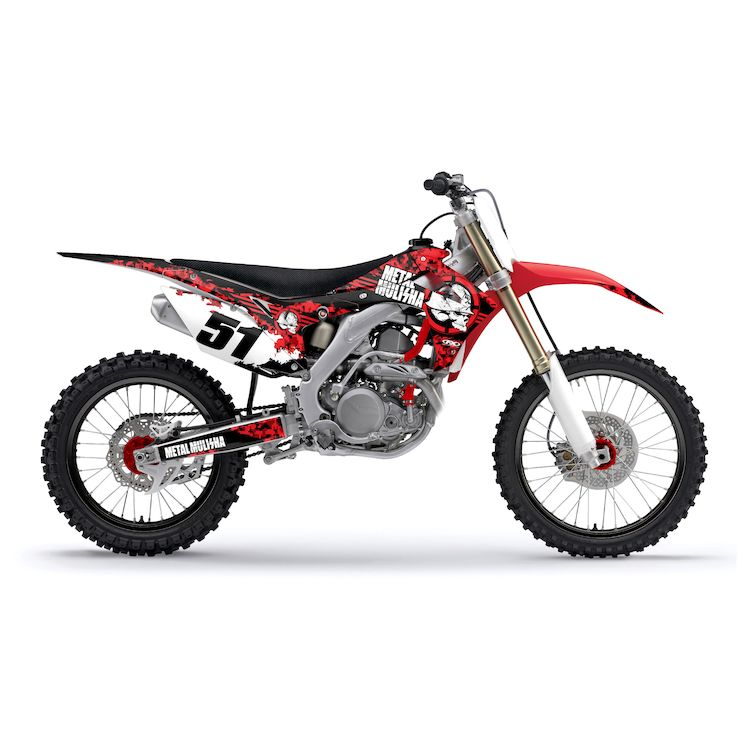 Factory Effex Metal Mulisha Shroud / Airbox Graphics Kit Honda CR125R / CR250R 2002-2007