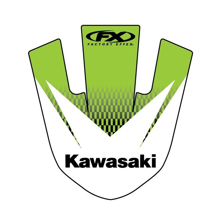 Factory Effex Front Fender Graphic Kawasaki KX250F / KX450F 2012-2016