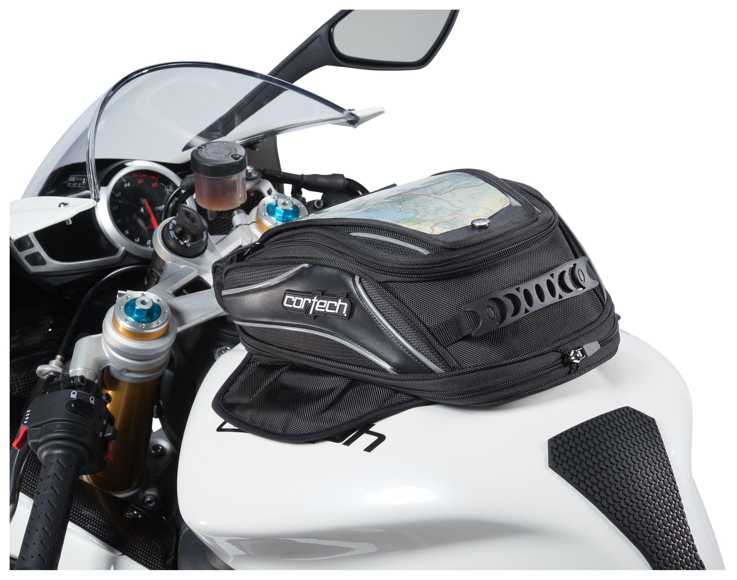 Pro Taper Handlebars >> Cortech Super 2.0 Low Profile Tank Bag - Cycle Gear