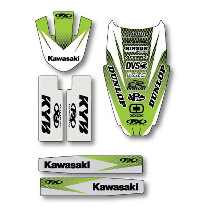 Factory Effex Trim Graphics Kit Kawasaki KX125 / KX250 1999-2002