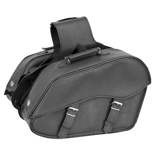 River Road Quantum Windswept Saddlebags (Color: Black / Type: Classic) 1064618