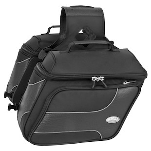 River Road Spectrum Slant Saddlebags (Color: Black / Size: MD) 1064964