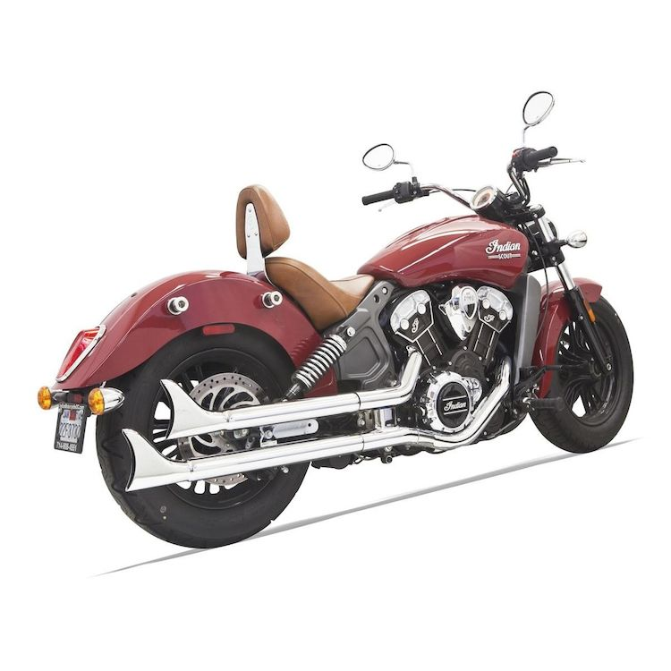 Bassani Fishtail Slip-On Mufflers For Indian Scout 2015-2016