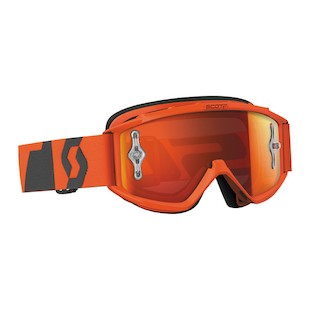 Scott Youth 89Si Pro Goggles (Color: Oxide Orange/Grey / Lens: Orange Mirror) 1072148