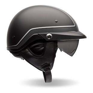 Bell Pit Boss Pinstripe Helmet (Color: Black/Grey / Size: LG) 1072341