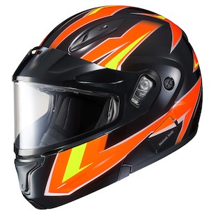 HJC CL-Max 2 Ridge Snow Helmet - Dual Lens (Color: Orange/Black / Size: XS) 1075327