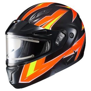 HJC CL-Max 2 Ridge Snow Helmet - Electric Shield (Color: Orange/Black / Size: 3XL) 1075403