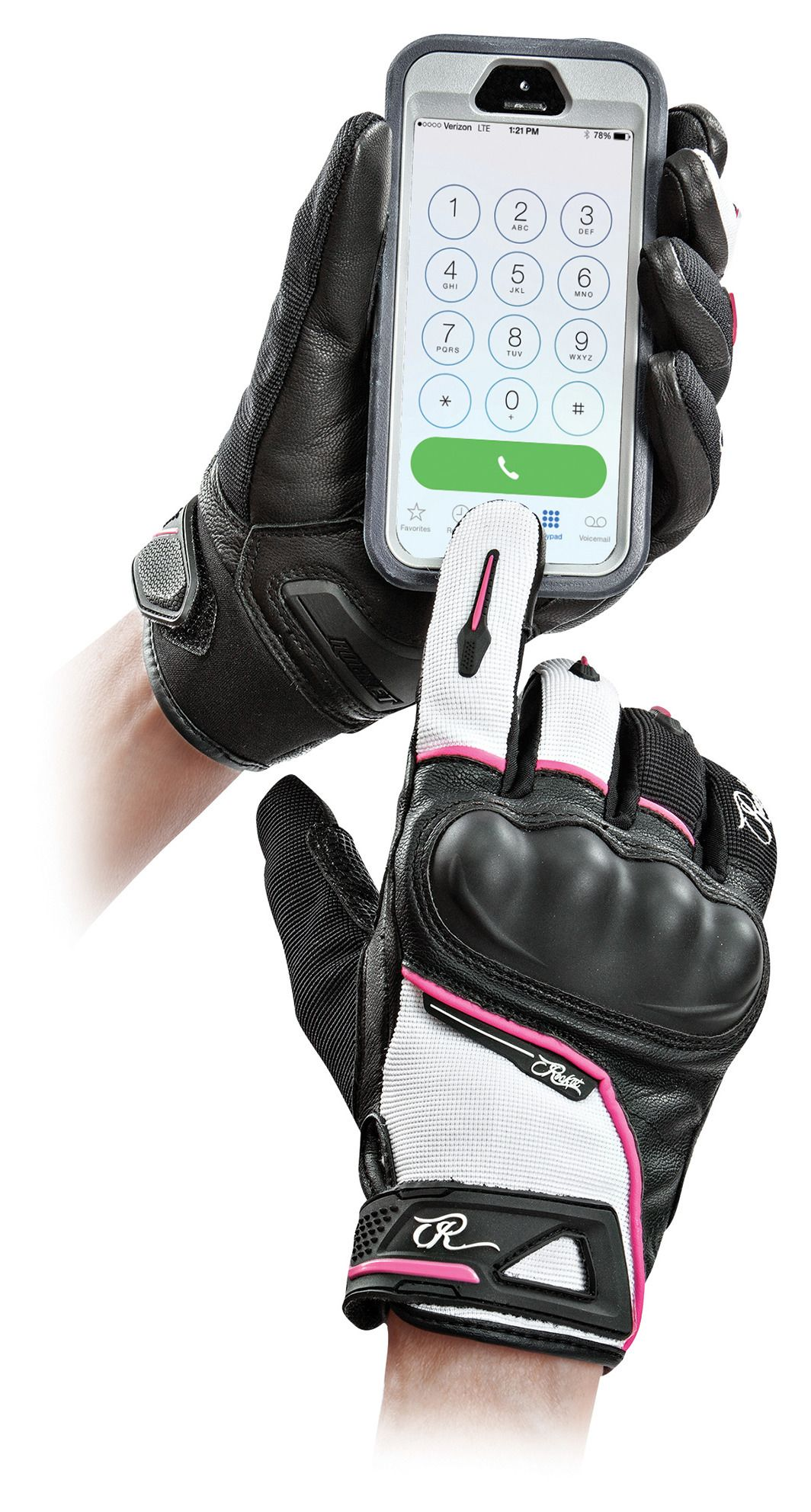 Womens pink leather motorcycle gloves - Womens Pink Leather Motorcycle Gloves 58