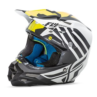 Fly Racing F2 Carbon MIPS Zoom Helmet (Color: White/Black/Hi-Viz Yellow / Size: XL) 1081559