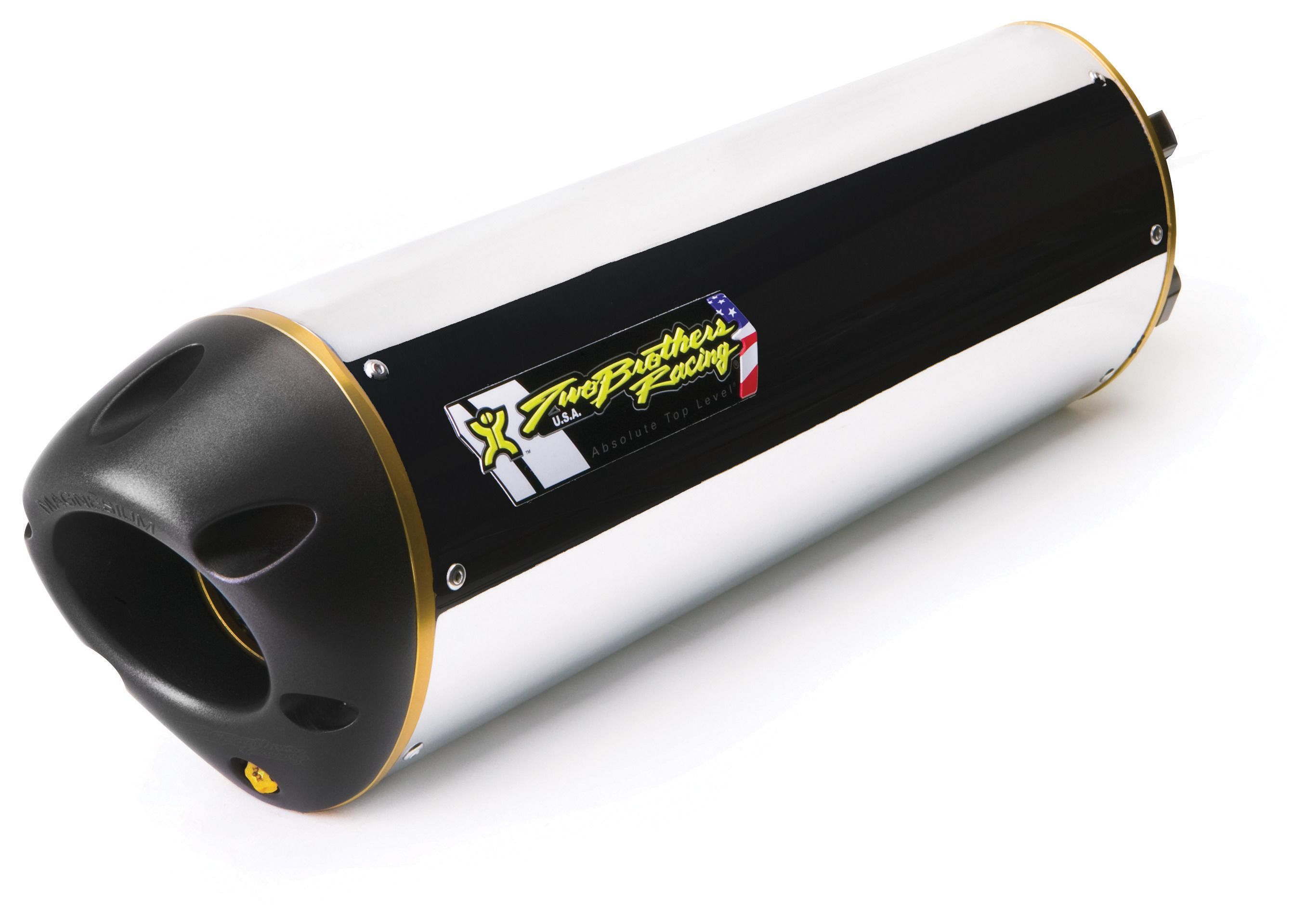 Black Series M-2 Aluminum Canister Slip-On Exhaust System 005-1390406D-B Two Brothers Racing