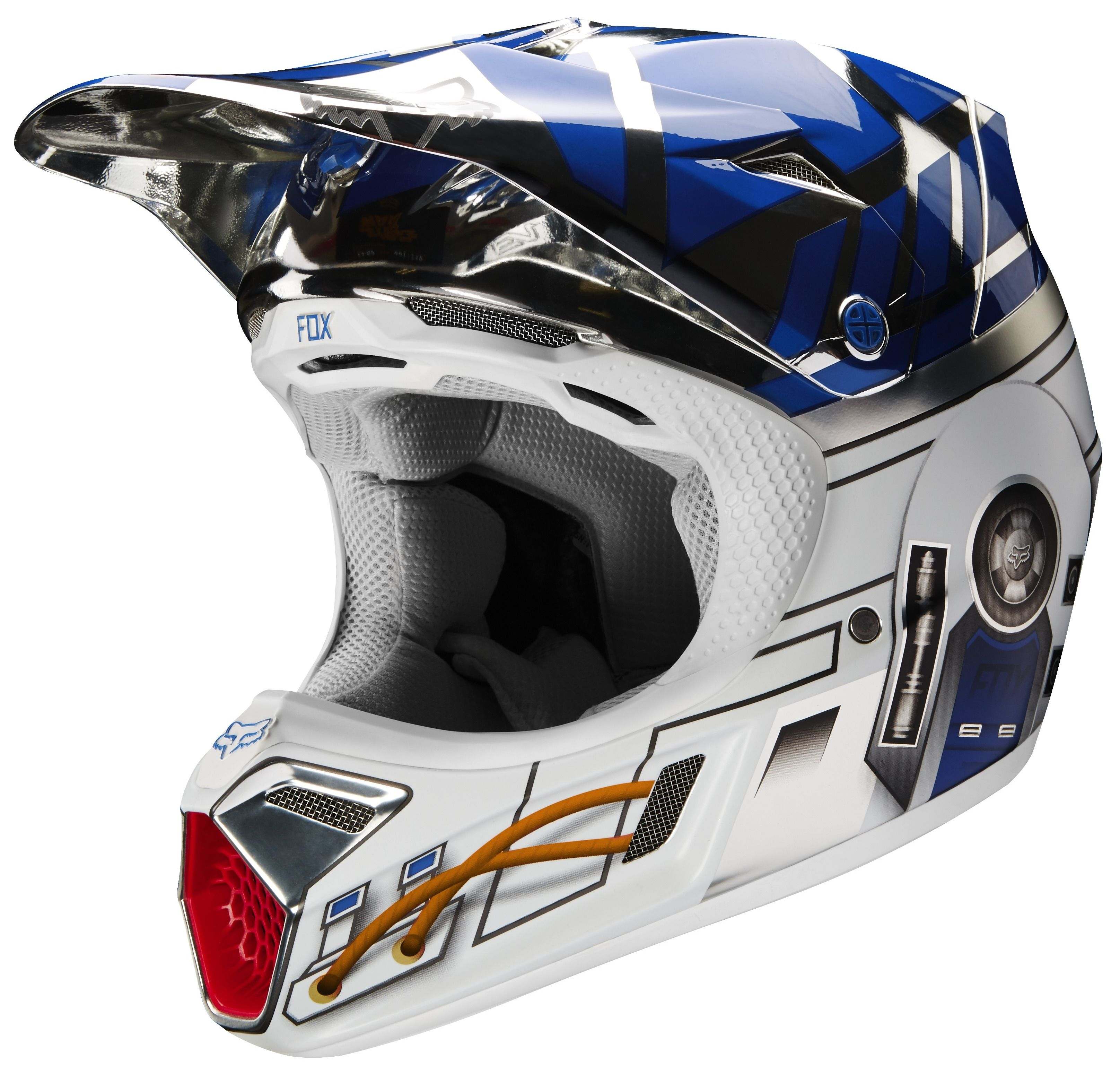 fox racing v3 r2d2 le helmet cycle gear. Black Bedroom Furniture Sets. Home Design Ideas