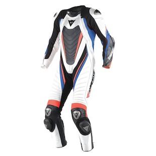 Dainese Aero EVO D1 Race Suit - (Sz 44 Only) (Color: White/Black/Sky Blue / Size: 44) 1043545