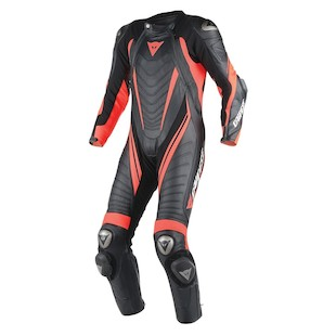 Dainese Aero EVO D1 Race Suit (Color: Black/Fluo Red/Fluo Red / Size: 44) 1043572
