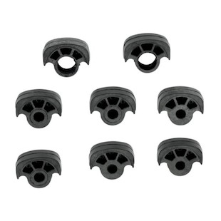 Kuryakyn Replacement Pads For ISO Foot Pegs (Color: Black / Size: Small) 1072093