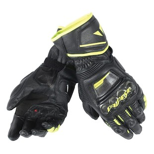 Dainese Druid Long D1 Gloves (Color: Black/Black/Fluo Yellow / Size: MD) 1042048
