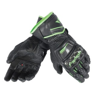 Dainese Druid Long D1 Gloves (Color: Black/Black/Fluo Green / Size: XS) 1042060
