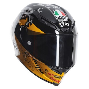 AGV Corsa Guy Martin Helmet - SM Only (Color: Black/Yellow / Size: SM) 1086942