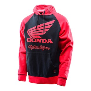 Troy Lee Honda Wing Raglan Hoody (Color: Black/Red / Size: XL) 1088051