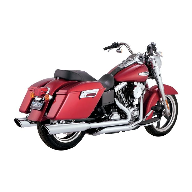 """Vance & Hines 4"""" Twin Slash Dual Exhaust For Harley Switchback 2012-2016"""