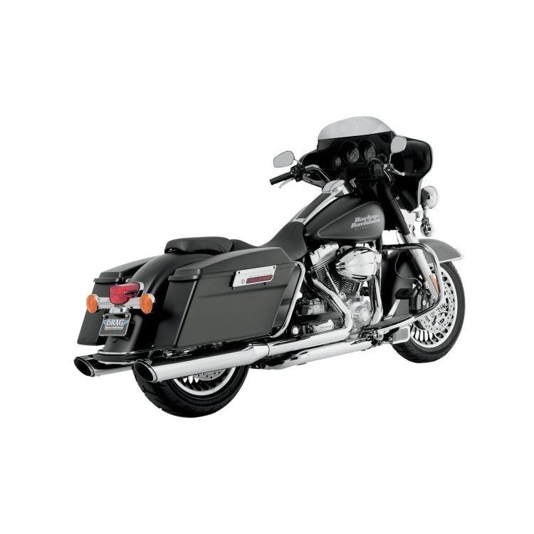 "Vance & Hines 4"" Round Twin Slash Slip-On Mufflers For Harley Touring 1995-2016"