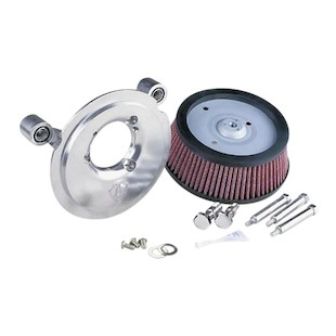 Arlen Ness Naked Stage 1 Big Sucker Air Cleaner For Harley Street 2015-2018 (Material: Synthetic Stainless Jacketed Air Filter / Type: Chrome Backing Plate) 1090450