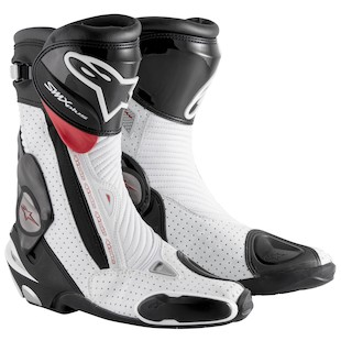 Alpinestars SMX Plus Vented Boots (Color: Black/White/Red / Size: 42) 1090586