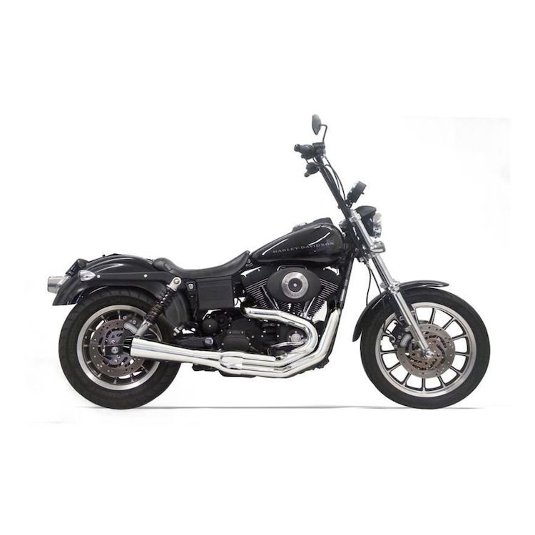 Bassani Road Rage 2-Into-1 Exhaust For Harley Dyna With Mids 1991-2005