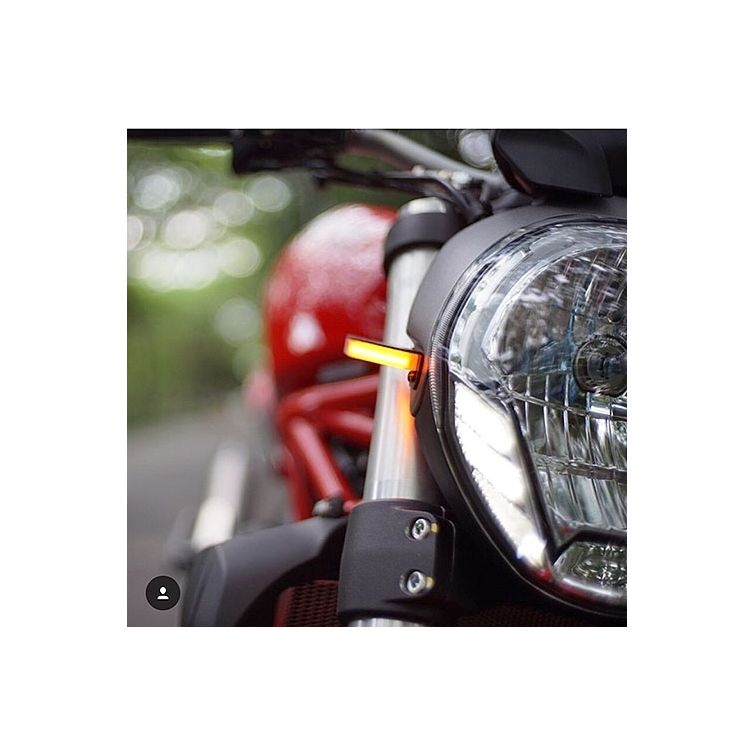 New Rage Cycles LED Front Turn Signals Ducati Monster 796 2010-2014