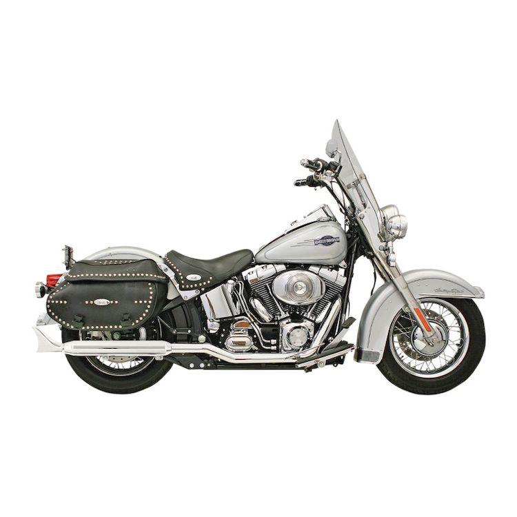 "Bassani Fishtail 3"" Slip-On Mufflers For Harley Softail 1986-2017"