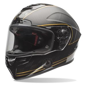 Carbon Fiber Motorcycle Helmet >> Bell Race Star Ace Cafe Speed Check Helmet Cycle Gear