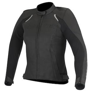 Alpinestars Stella Devon Leather Jacket (Color: Black / Size: 42) 1097700