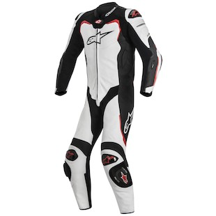 Alpinestars GP Pro Leather Race Suit For Tech Air Race (Color: Black/White/Red / Size: 56) 1097923