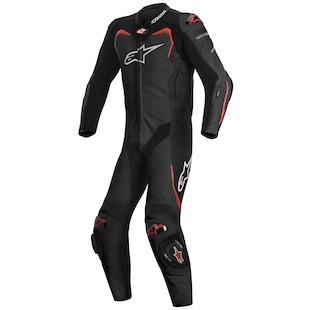 Alpinestars GP Pro Leather Race Suit For Tech Air Race (Color: Black/Red / Size: 52) 1097911