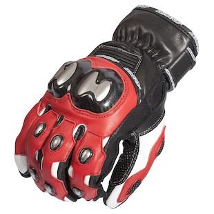 AGV Sport Rivet Gloves (Color: Red / Size: MD) 1082491