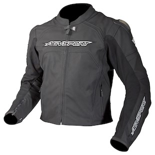 AGV Sport Misano Perforated Leather Jacket (Color: Black / Size: 40) 1082609