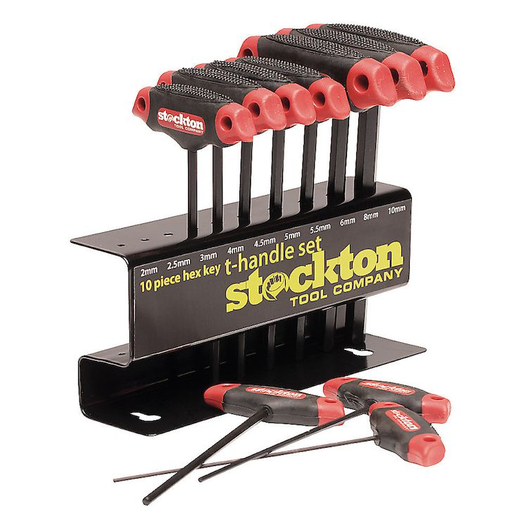 Stockton 10 Piece Hex Key T-Handle Set