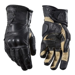 Speed Merchant Riding Gloves (Color: Black/Tan / Size: LG) 1125372
