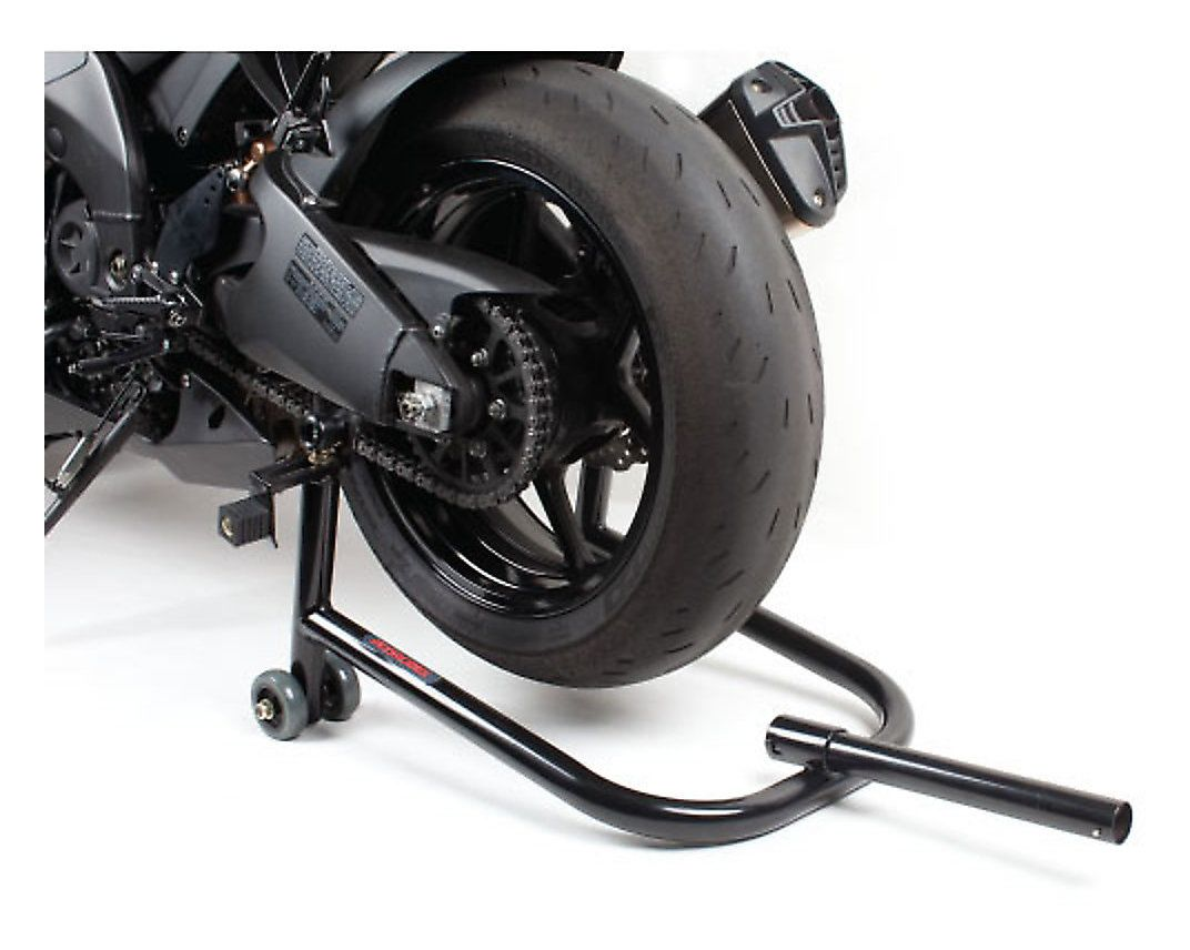 motorcycle rear stand how to use