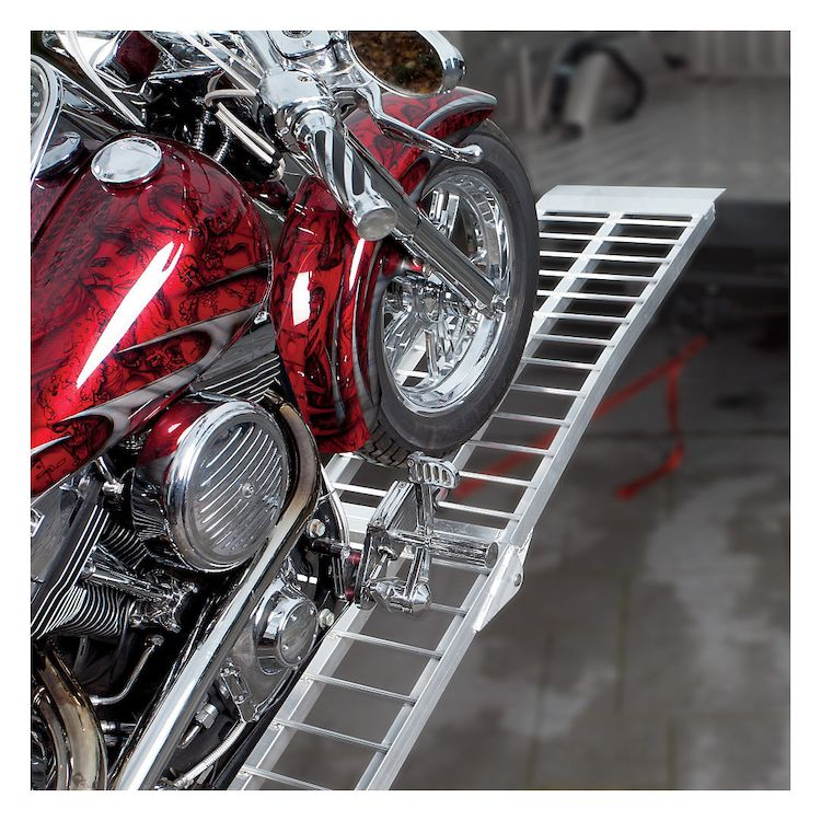 Trackside Heavy Duty Wide Aluminum Folding Ramp Cycle Gear