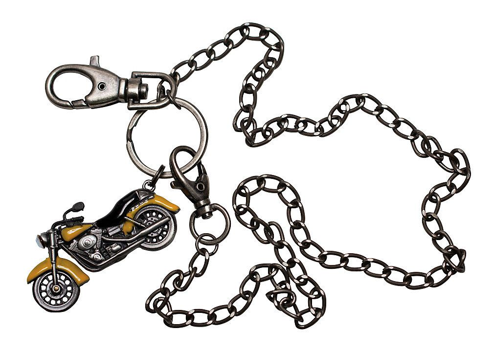 wheelies motorcycle wallet chain